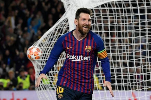 Lionel Messi celebra un gol con el Barcelona. Foto: AFP.