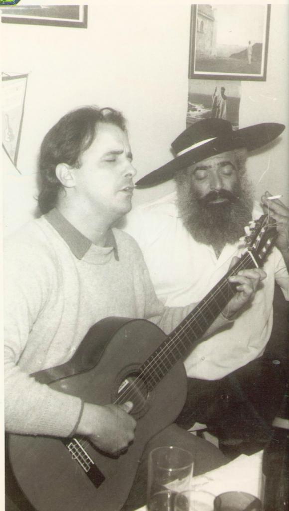Santiago Chalar y Jorge Cafrune. Foto: Archivo El País.