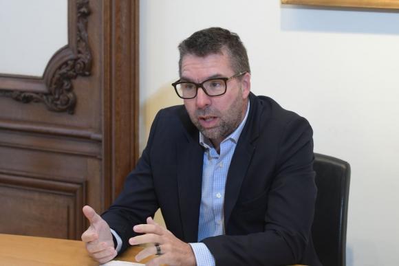 Diego Vallarino aseguró que para Scotiabank si la data es el petróleo, el analytics es la refineria. Foto: Leonardo Mainé.