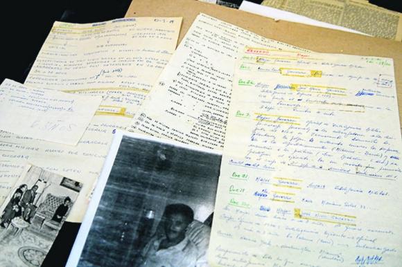 Objetos que Gavazzo conserva en su casa. Foto: El País