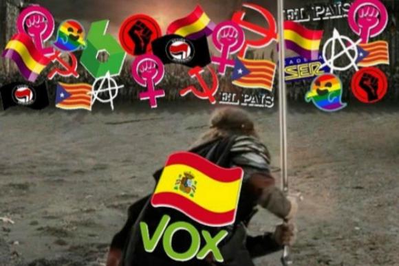 La fotografía que Vox compartió en Twitter. Foto: Twitter @vox_es.