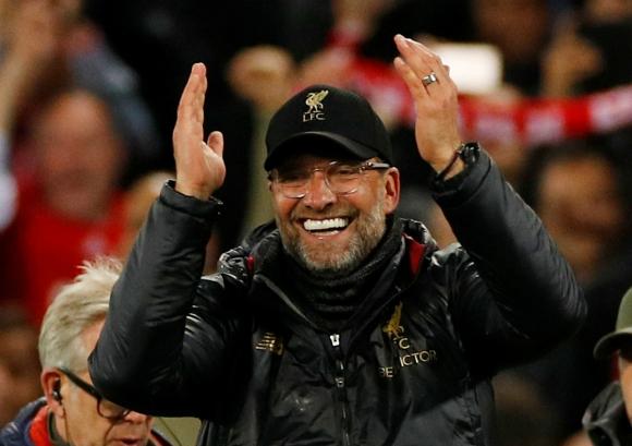 Jürgen Klopp en el encuentro entre Liverpool y Barcelona. Foto: Reuters.