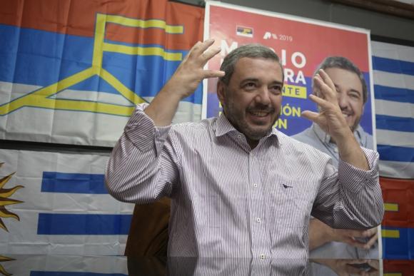 """Bergara: """"Yo debato con quien sea, si el voto en octubre es obligatorio el debate debería ser obligatorio"""". Foto: Marcelo Bonjour"""