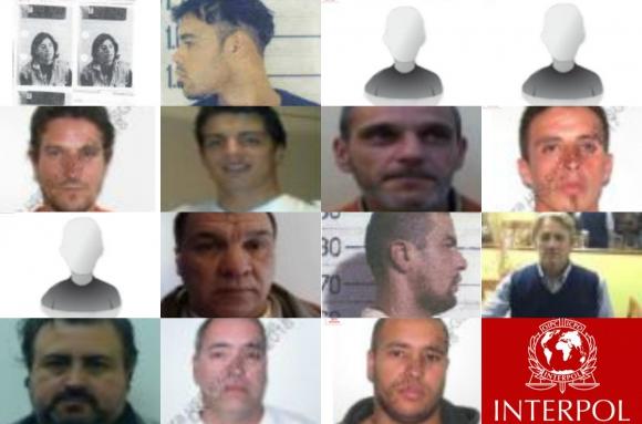130580ee Actualmente hay 15 uruguayos en la lista de buscados de Interpol. Fotos:  Interpol