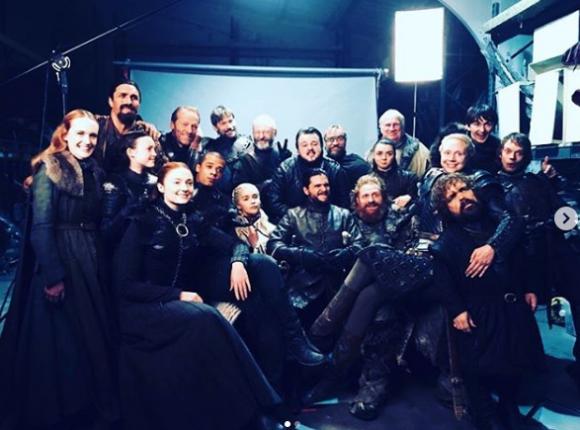 Actrices se despiden de Game of Thrones. Foto: Instagram @sophiet