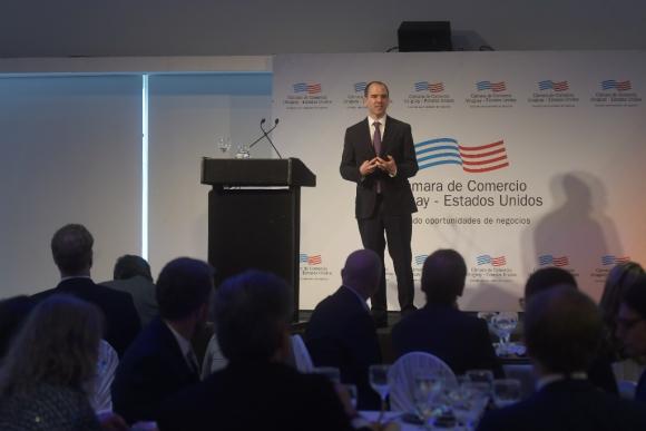 """El economista halagó a Uruguay por """"mantener fundamentos macroeconómicos sólidos"""". Foto: Francisco Flores"""