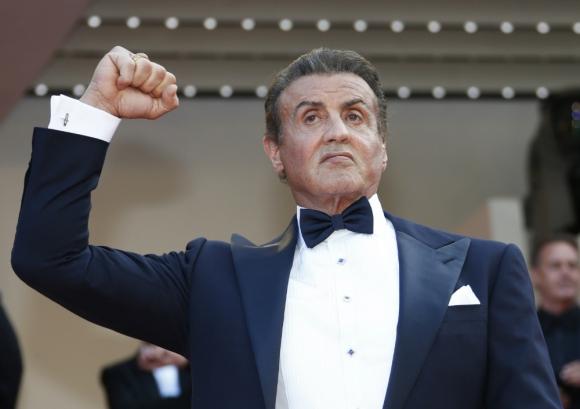 Sylvester Stallone en el Festival de Cine de Cannes. Foto: AFP