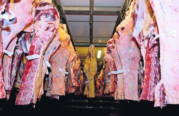 Carne vacuna. Frigorífico Carrasco. Foto: El País.