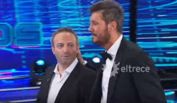 Sebastián Almada y Marcelo Tinelli