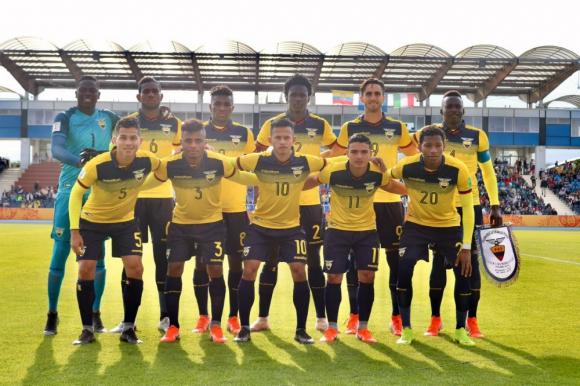 Selección de Ecuador que perdió ante Italia