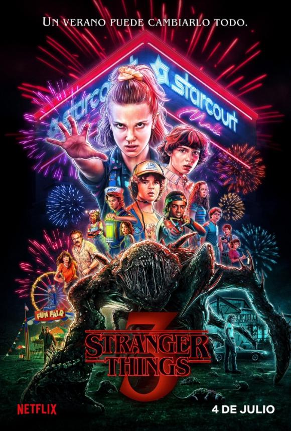 Poster de la tercera temporada de Stranger Things. Foto: Difusión