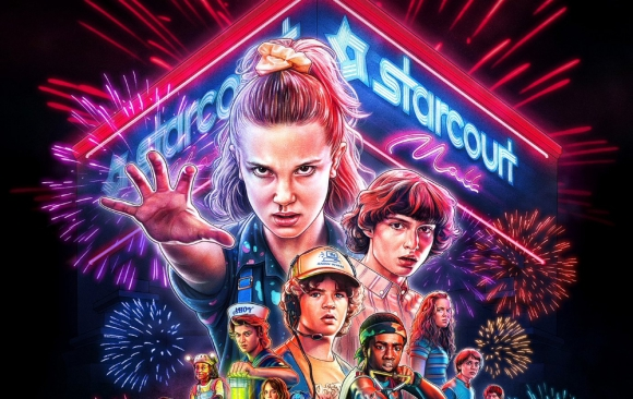 Poster recortado de la tercera temporada de Stranger Things. Foto: Difusión