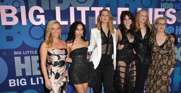 El elenco de la serie Big Little Lies en la premiere de la segunda temporada en Nueva York