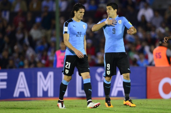 Edinson Cavani y Luis Suárez, el temible ataque de Uruguay. Foto: Archivo El País.