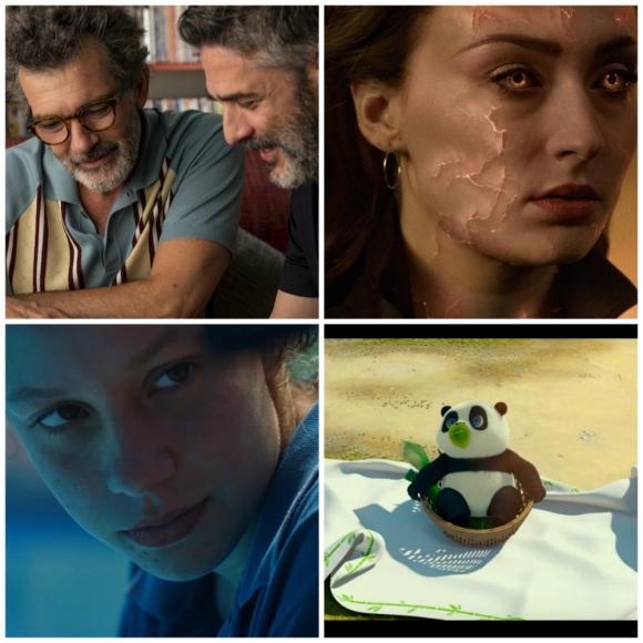 Dolor y Gloria, Los tiburones, Un panda en apuros y Dark Phoenix son los estrenos. Foto: Difusión