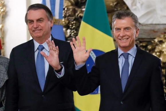 Jair Bolsonaro y Mauricio Macri. Foto: EFE.