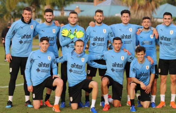 El equipo de Uruguay que ganó el partido de fútbol informal