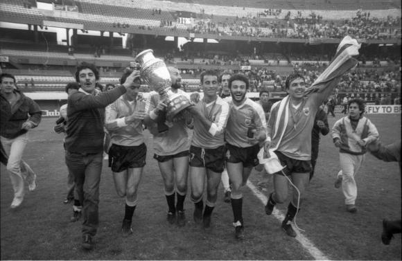 Uruguay campeón de América en Argentina.