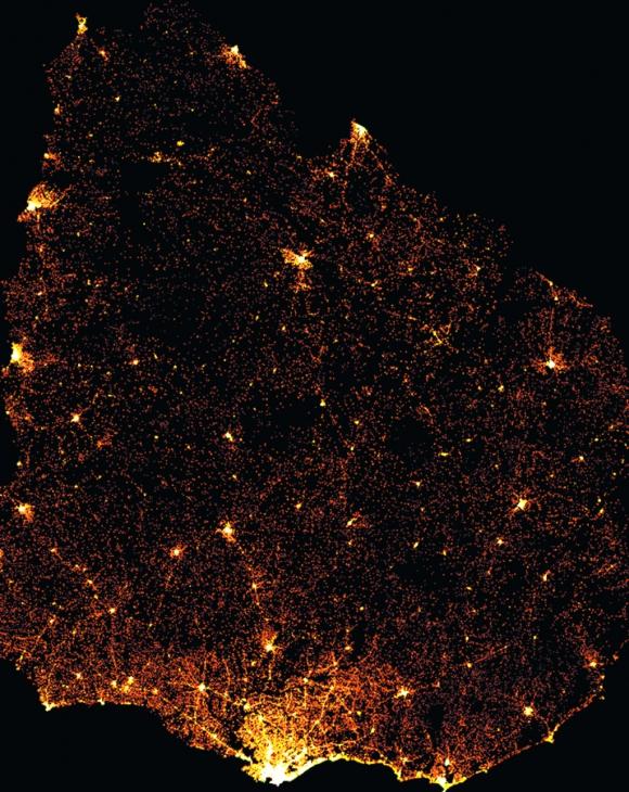 Mapa revela la ubicación de las mujeres uruguayas en edad reproductiva. Foto: Facebook
