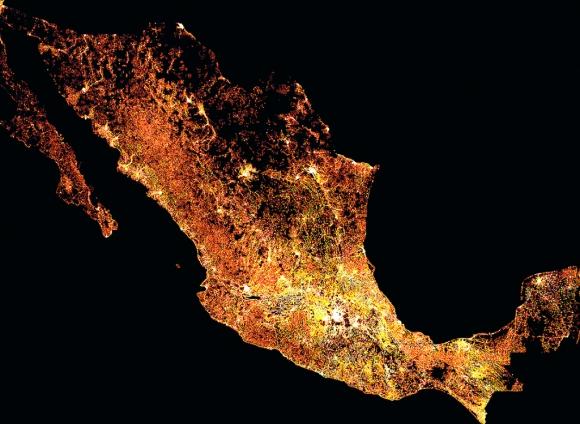 Mapa de la densidad de población anciana en México. Foto: Facebook