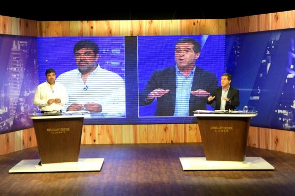 Debate electoral entre Óscar Andrade y Ernesto Talvi. Foto: Marcelo Bonjour
