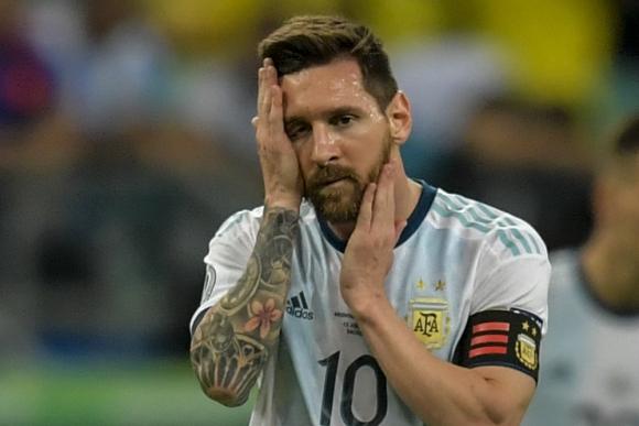 El rostro desfigurado de Lionel Messi tras la derrota