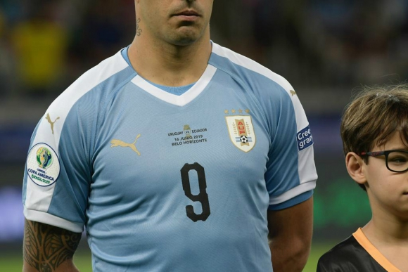 Camiseta de Uruguay con detalles. Foto: Gerardo Pérez.