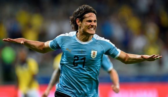 Edinson Cavani en Uruguay vs. Ecuador por Copa América 2019