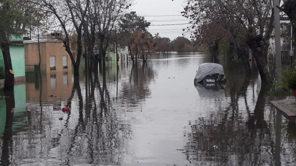 Inundaciones en Durazno. Foto: Marcelo Pérez