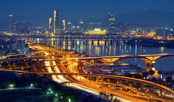 Imagen nocturna de Corea. Foto: Ingram Publishing/Newscom