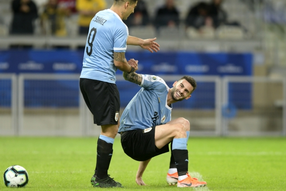 Gastón Pereiro y Luis Suárez en Uruguay