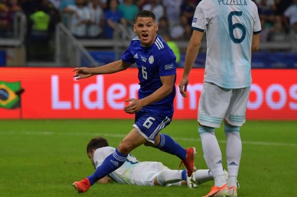 Richard Sánchez en el Paraguay vs. Argentina de la Copa América