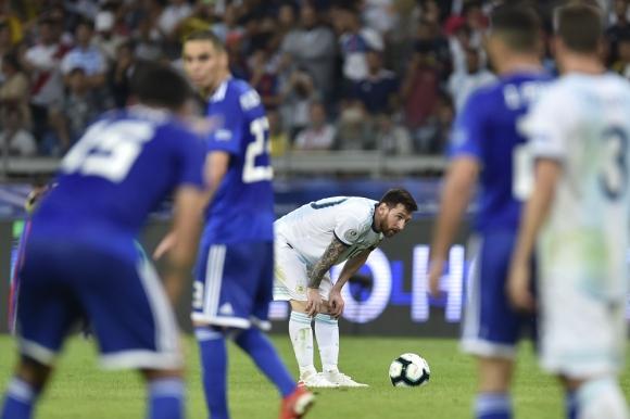 Lionel Messi en el Argentina vs. Paraguay
