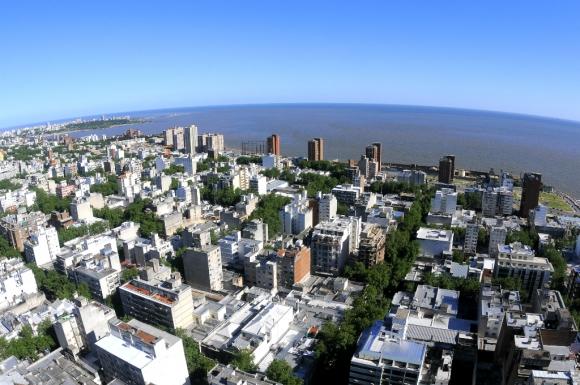 Imagen aérea de Montevideo. Foto: Archivo El País
