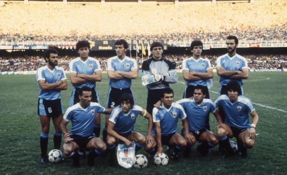 El equipo de Uruguay en la Copa América 1989. Foto: archivo El País.