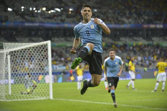 Luis Suárez en el Uruguay vs. Ecuador de la Copa América 2019