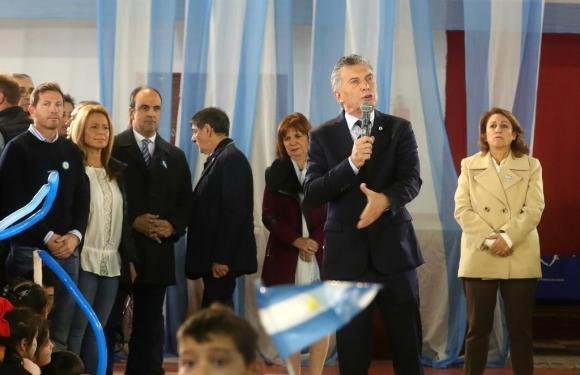 Mauricio Macri en acto político. Foto: EFE