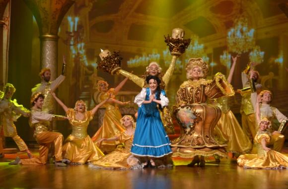 La bella y la bestia, un musical que tendrá tres versiones en estas vacaciones. Foto: Difusión