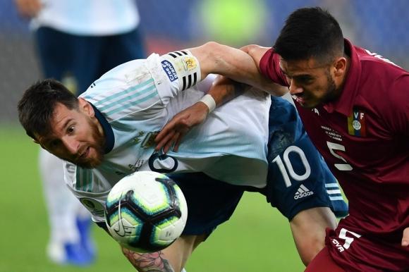 Messi en el Argentina vs. Venezuela