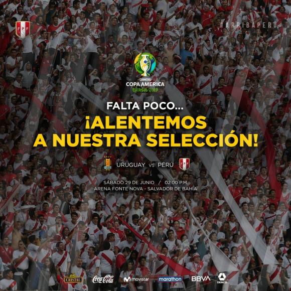 En Perú están pidiendo el respaldo a la selección