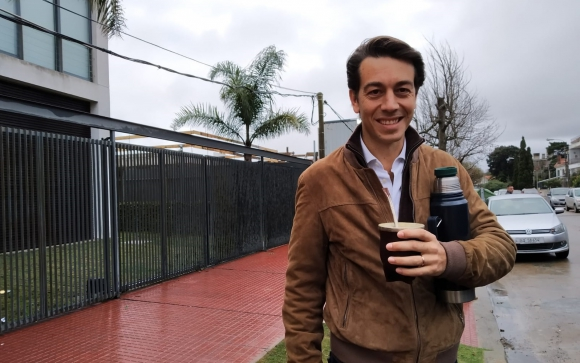 Juan Sartori en la jornada de elecciones internas. Foto: Soledad Gago