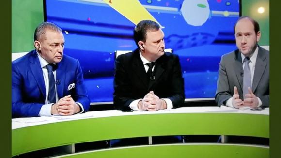"""Jorge Sanguinetti, anoche con el """"Pato"""" Aguilera y Leucowicz"""