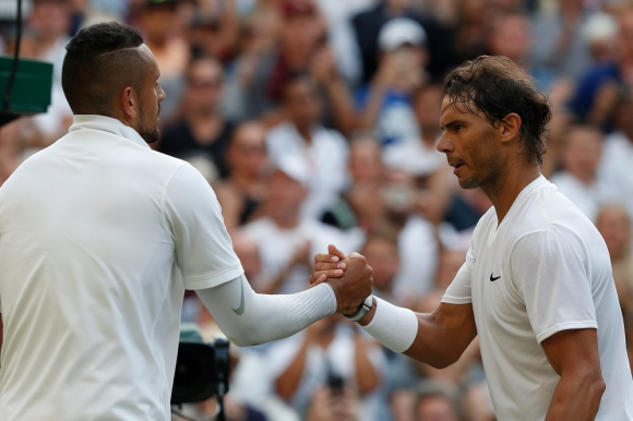 Nick Kyrgios vs Rafael Nadal en Wimbledon 2019