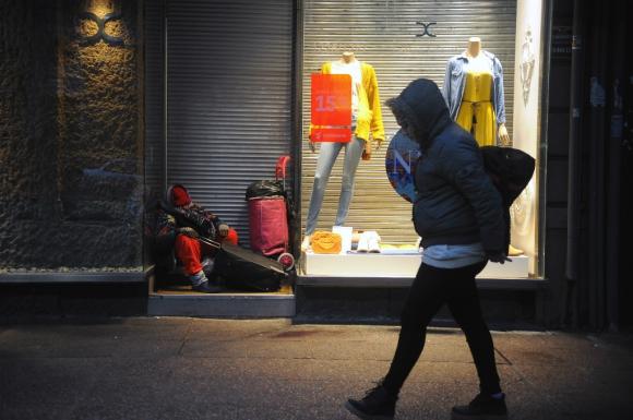 Personas en situación de calle. Foto: Archivo El País