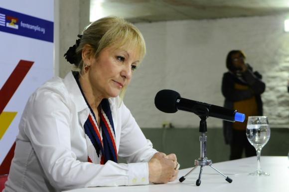 Carolina Cosse en conferencia de prensa. Foto: Darwin Borrelli