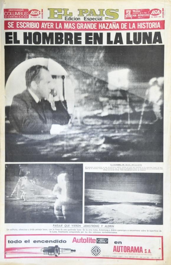 Una edición especial de El País para informar sobre la hazaña. Foto: Archivo El País