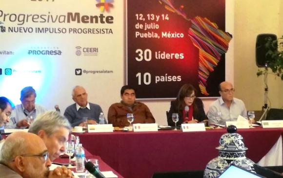 Daniel Martínez participó del Grupo Progresista Latinoamericano. Foto: @progresalatam