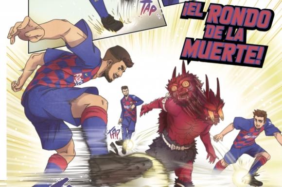 Luis Suárez en el manga de Barcelona