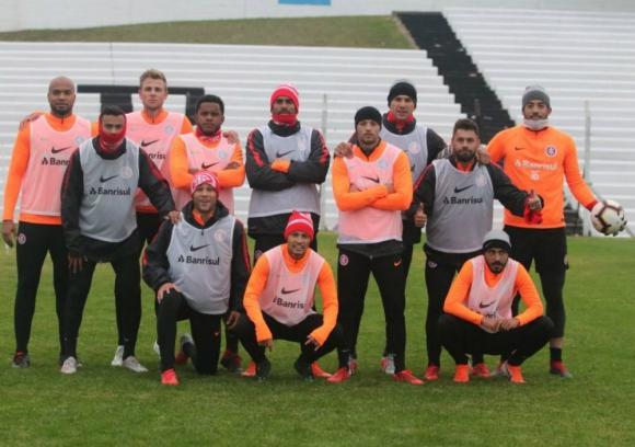Inter de Porto Alegre entrenó en Jardines del Hipódromo