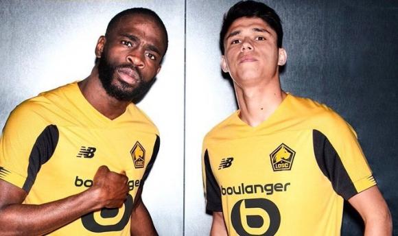 Lille y su camiseta alternativa con los colores amarillo y negro. Foto: @LOSC_ES